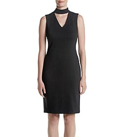 Calvin Klein Choker Neckline Shift Dress