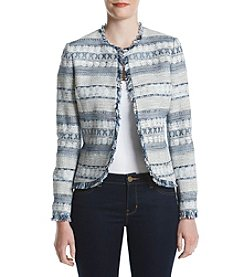 Anne Klein® Harbor Blue Tweed Jacket