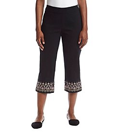 Studio Works® Petites' Embroidered Capri