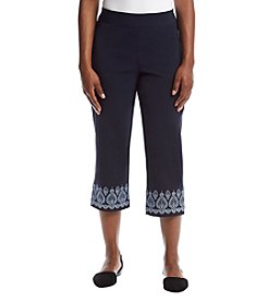 Studio Works® Petites' Embroidered Cuff Capris