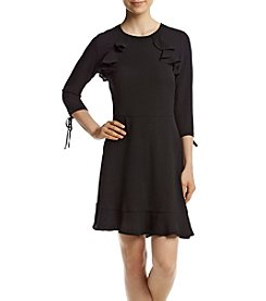 Be Bop® Ruffle Front Fit-And-Flare Dress