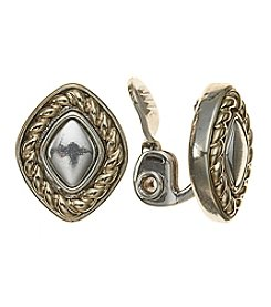 Napier®  Button Clip-On Earrings