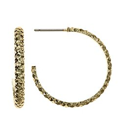 Napier® Open Hoop Post Earrings