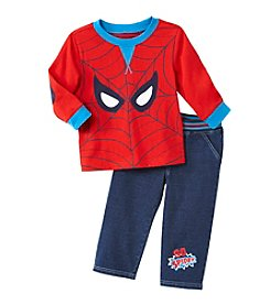 Nannette® Baby Boys' Spider-Man® Denim Pants Set