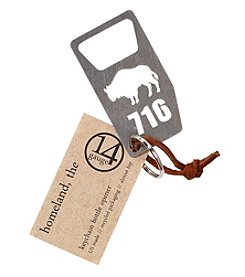 14 Gauge Buffalo Bottle Opener Keychain