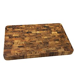 Ironwood Gourmet® Large End Grain Acacia Wood Prep Station