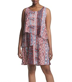 Relativity® Plus Size Print Tier Dress