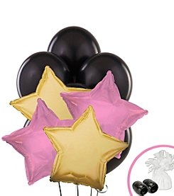 Black Pink & Gold Set of 10 Balloons Bouquet Kit