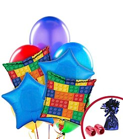 Building Block Party Set of 10 Balloons Bouquet Kit