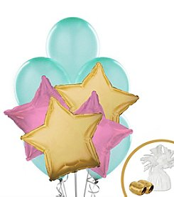 Mint Pink & Gold Set of 10 Balloons Bouquet Kit