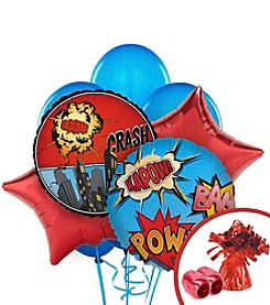 Superhero Comics Party Balloon Bouquet