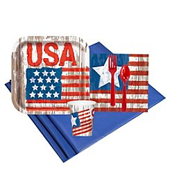 Vintage Patriotic Flag 8 Guest Party Pack