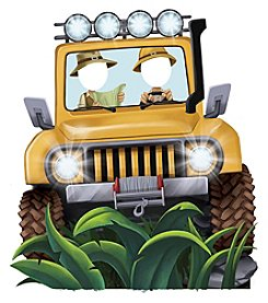 Jungle Party Jeep Standee Party Prop