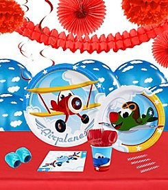 Airplane Adventure 16 Guest Party Pack with Decoration Kit