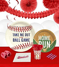 Baseball Time 16 Guest Party Pack with Decoration Kit