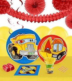 Construction Pals 16 Guest Party Pack with Decoration Kit