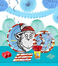 Dr. Seuss 16 Guest Party Pack with Decoration Kit