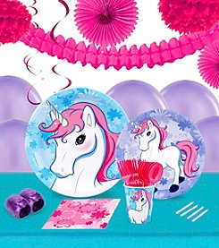 Enchanted Unicorn 16 Guest Party Pack with Decoration Kit