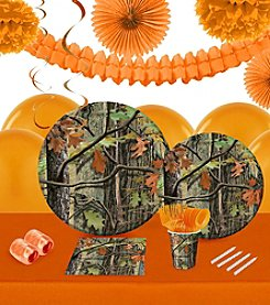 Hunting Camo 16 Guest Party Pack with Decoration Kit