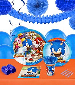 Sonic Boom 16 Guest Party Pack with Decoration Kit