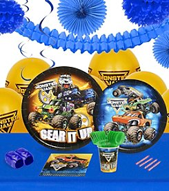 Monster Jam® 16 Guest Party Pack with Decoration Kit
