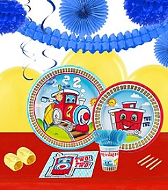 Two-Two Train 16 Guest Party Pack with Decoration Kit