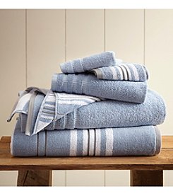 Pacific Coast® 6-Piece Yarn Dyed Racer Stripe Towel Collection