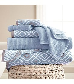 Pacific Coast® 6-Piece Yarn Dyed Oxford Towel Collection