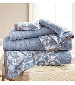 Pacific Coast® 6-Piece Yarn Dyed Lattice Rod Towel Collection