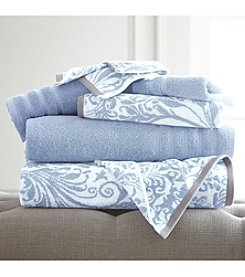 Pacific Coast® 6-Piece Yarn Dyed Filigree Swirl Towel Collection
