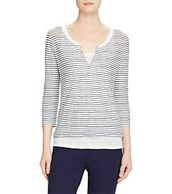 Lauren Ralph Lauren® Striped Linen Jersey Shirt