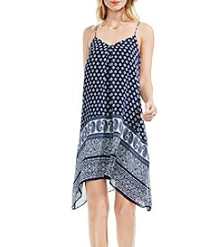 Vince Camuto® Printed Asymmetrical Hem Dress