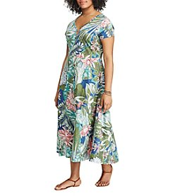 Chaps® Plus Size Floral Jersey Maxi Dress