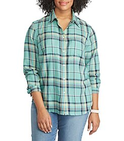 Chaps® Plus Size Plaid Cotton Twill Shirt