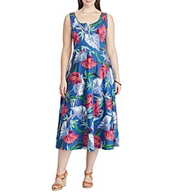 Chaps® Plus Size Floral Jersey Dress