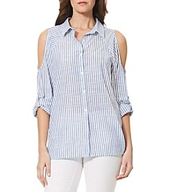 Bandolino® Sheridan Stripe Cold Shoulder Top