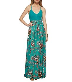 Jessica Simpson Dancing Birds Maxi Dress