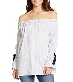 William Rast® Belinda Striped Off-Shoulder Top