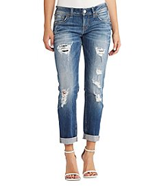 Silver Jeans Co. Sam Destructed Boyfriend Jeans