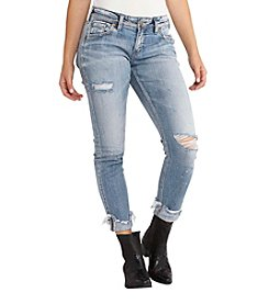 Silver Jeans Co. Kenni Destructed Girlfriend Jeans