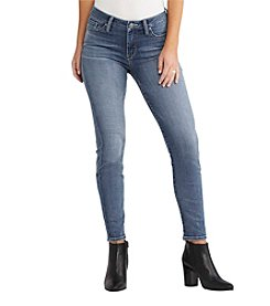 Silver Jeans Co. Bleecker Mid Rise Ankle Skinny Jeans