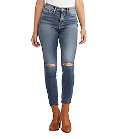 Silver Jeans Co. Robson Ripped Ankle Skinny Jeans