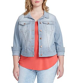 Jessica Simpson Plus Size Pixie Classic Denim Jacket