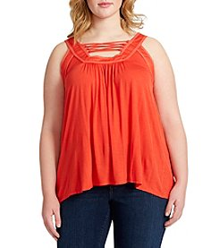 Jessica Simpson Plus Size Lace-Up Tank