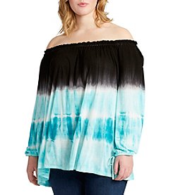 Jessica Simpson Plus Size Off-Shoulder Peasant Top