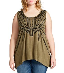 Jessica Simpson Plus Size Sharkbite Tank
