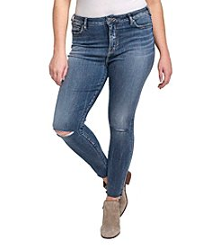 Silver Jeans Co. Plus Size Robson Slit Knee Jeans