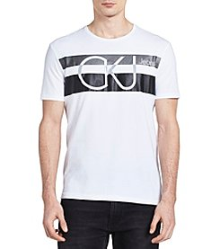 Calvin Klein Men's Chest Stripe Crew Neck Tee