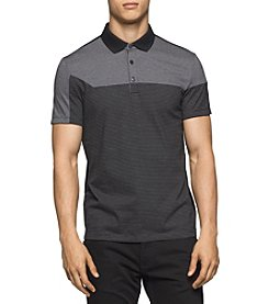 Calvin Klein Men's Liquid Jersey Angled Polo Shirt