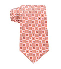 John Bartlett Men's Box Geo Print Tie